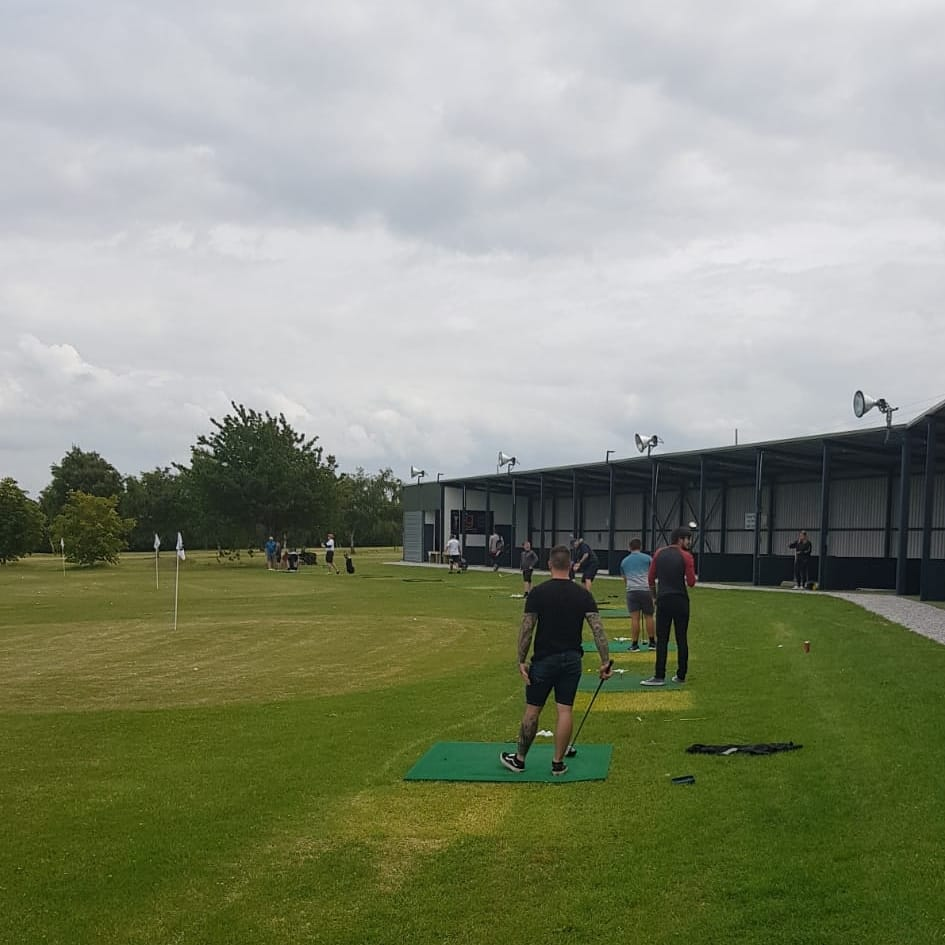 Our Outdoor Driving Range Set Up